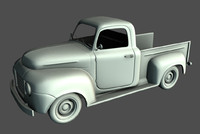 old pickup truck 3d obj