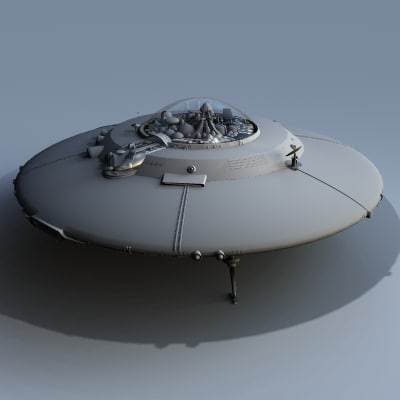 maya flying saucer - SaucerHillUFO_MAX8.zip... by MDK Graphics