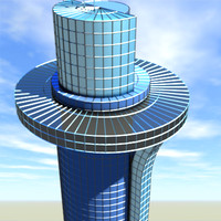Modern Blue Skyscraper Tower