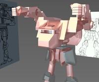 free firemoth omnimech mech 3d model
