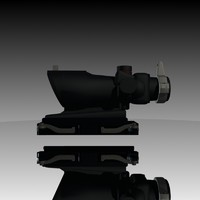 trijicon acog ta01nsn 3d model