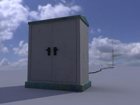 cabine electricity 3d model
