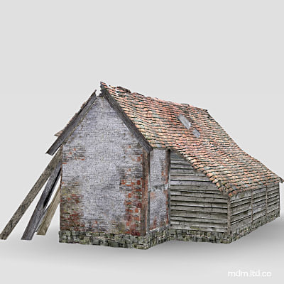 barn building 3d obj - Barn... by MDM_Models