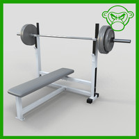 flat bench weight 3d obj