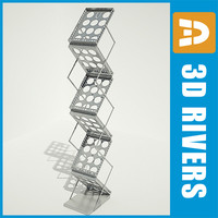magazine rack display 3d 3ds