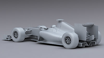 brawn gp 3d model - Brawn GP F1 2009 Mental Ray... by PK3DStudio