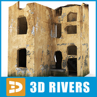 3d model ruined building