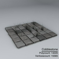 cobblestone stone 3d model