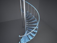 3d spiral stairs model