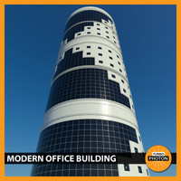 modern office building 02 3d model