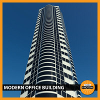 3d model modern office building 02