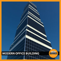 3d modern office building 03