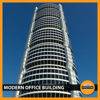 3d modern office building 04