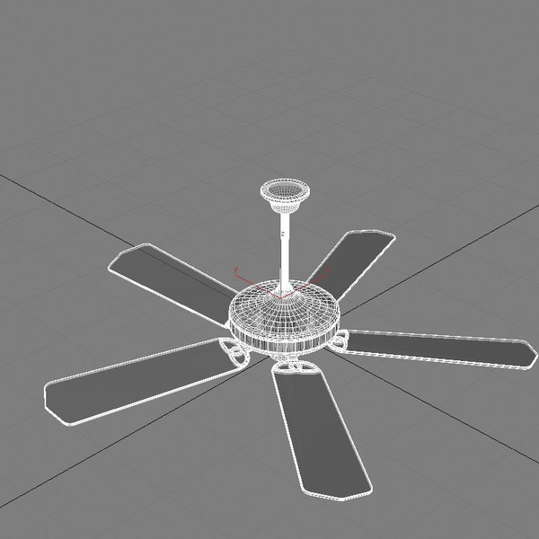 3d ceiling fan model - OBJ_Vol1_Accessory0016.obj.zip... by Intero_ua