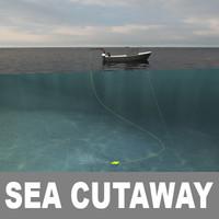 Cutaway Ocean and Underwater Scenes