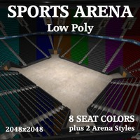 3d sports arena indoor play model