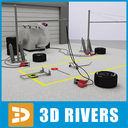 pit stop 3D models