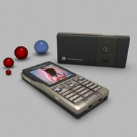 free mobile phone se k350i 3d model