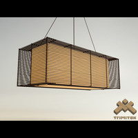 max kai rectangular hanging lamp