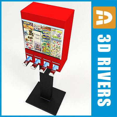 Sticker vending machine by 3DRivers