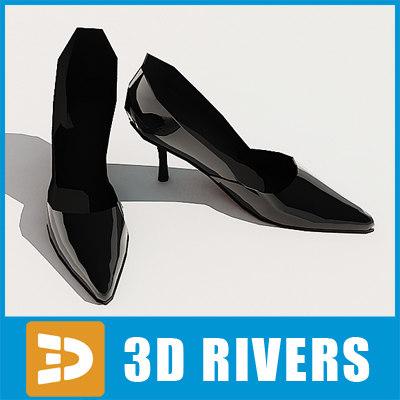 Black high heels by 3DRivers