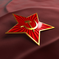 3d award red star model