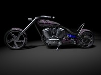 custom chopper 3d model