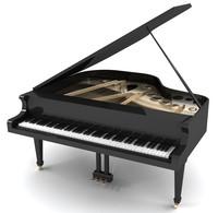 3d grand piano model