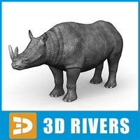 3d brontotherium thunder beast model