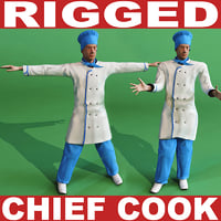 chief cook rigged biped 3d max