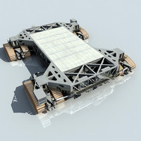 nasa crawler transporter shuttle launch 3d model