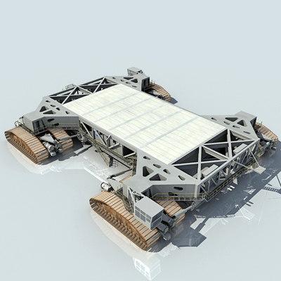 nasa crawler transporter shuttle launch 3d model