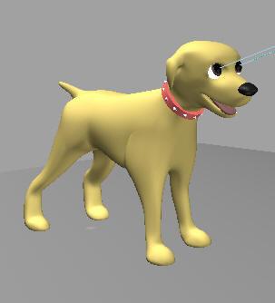 3dsmax rigged cartoon dog biped