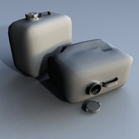 gas cans 3d model