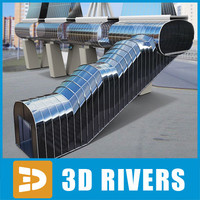 3d glass bridge modern