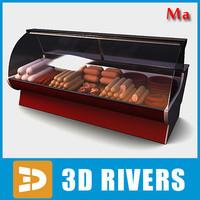 3d display freezer sausages 01 model