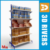 supermarkets candies shelving 01 3d fbx