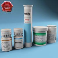 3ds medicines bottles