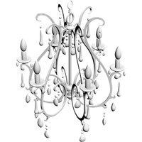 chandelier lamp 3d obj