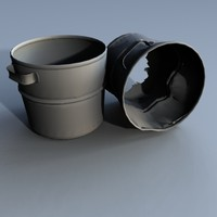 3d 3ds buckets rusted