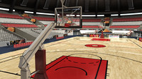 basketball arena 3d model
