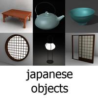 japan set 3d model