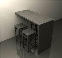 3ds bar stools