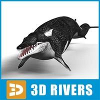 3d basilosaurus prehistoric cetacean