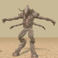 3d model fantasy beast