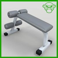 bench crunch 3d 3ds