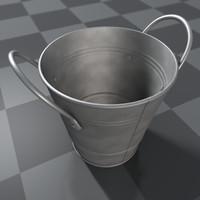 metal bucket c4d