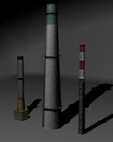 chimney set 3d model