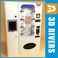 cup noodle vending machine 3d model