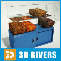 display dried fruits 3d 3ds
